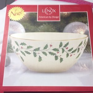 "Lenox 7"" holiday bowl"